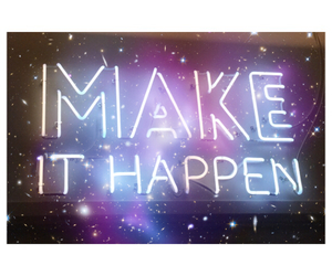 quote, light, and make it happen image