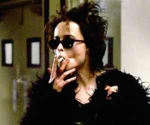 actress, marla singer, and cigarette image