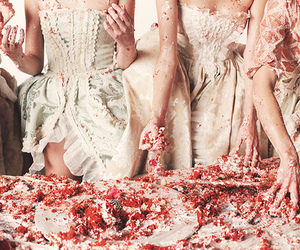 fashion, dress, and cake image