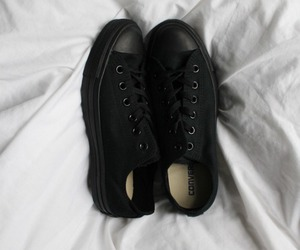 black, converse, and shoes image