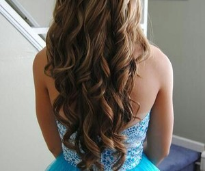 curl, pretty girl, and dress image