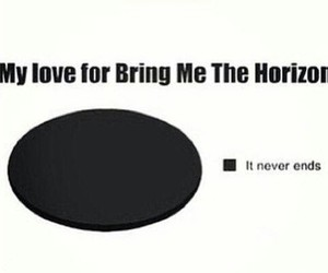 bands, bring me the horizon, and it never ends image