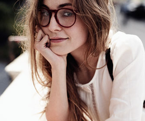 girl, glasses, and beautiful image