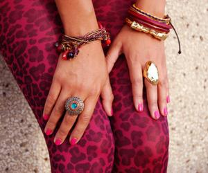 bracelet, pink, and ring image