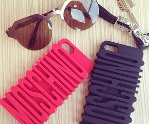 Moschino, iphone, and pink image