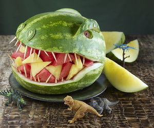 watermelon and dinosaur image