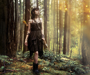 forest, nature, and black dress image