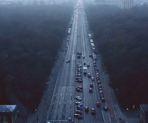 cars, city, and foggy image
