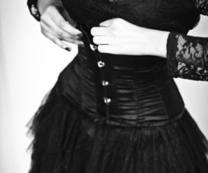 accesories, dress, and gothic image