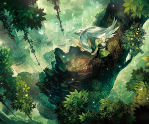 anime, forest, and fantasy image
