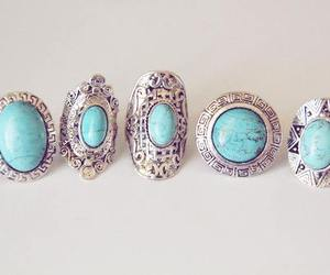 rings, blue, and ring image