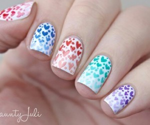 hearts, nail art, and nails image