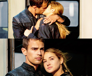 divergent, four, and kiss image