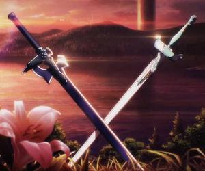 sword art online, sword, and kirito image