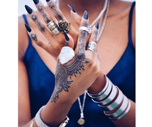 tattoo, girl, and accessories image