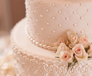 baroque, cake, and flowers image