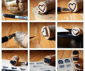 diy, stamp, and heart image