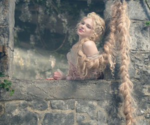 into the woods and rapunzel image