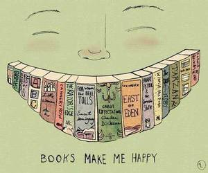 book, happy, and smile image