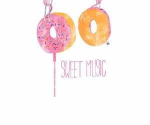 donut, white, and music image