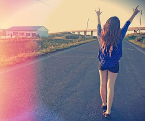 girl, happy, and free image