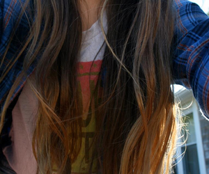 brown hair, fashion, and grunge image