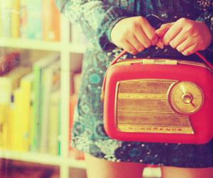 girl, radio, and photography image