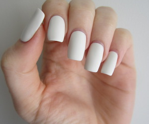 nails, white, and tumblr image