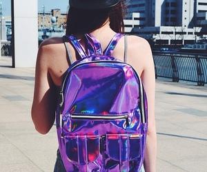 backpack, grunge, and hologram image