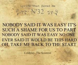 coldplay, Lyrics, and scientist image