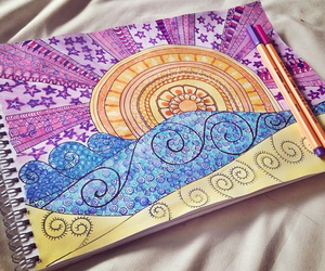 colors, drawings, and notebook image