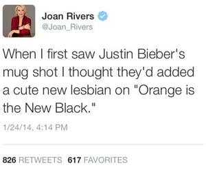 justin bieber and joan rivers image