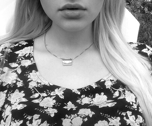 black and white, pale, and blonde image