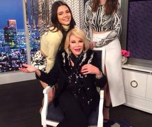 kendall jenner, kylie jenner, and joan rivers image