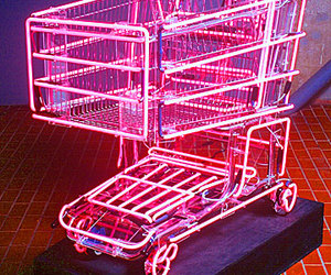 neon, pink, and cart image