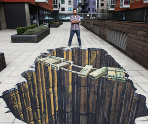 3d, drawing, and street art image