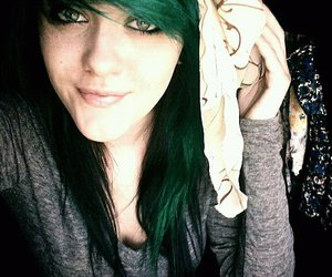 green hair, smiles, and photography image