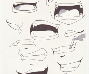 mouth, anime, and drawing image