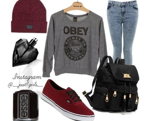 obey, outfit, and vans image
