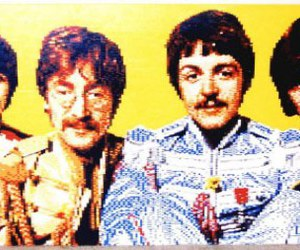 lego, the beatles, and portrait image