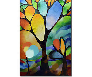 abstract, Oil Painting, and tree image