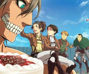 levi, shingeki no kyojin, and hanji zoé image