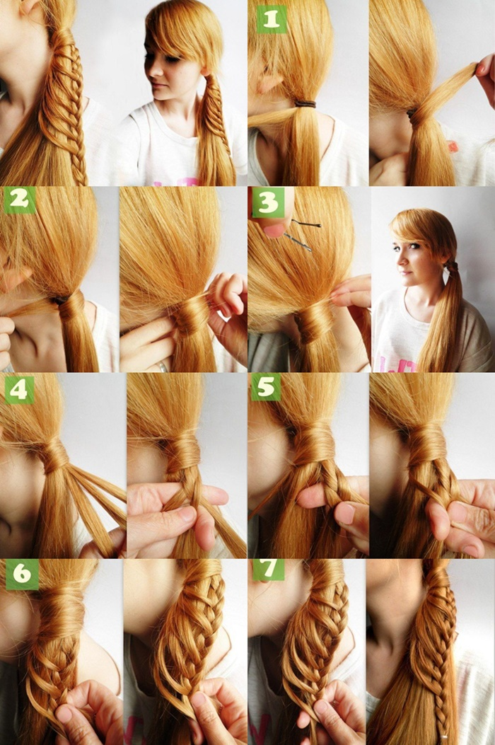 diy, hairstyle, and side ponytail image