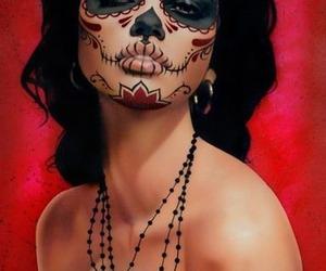 art, beauty, and skull image