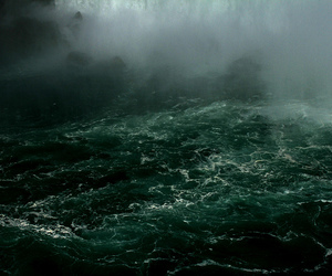 green, storm, and water image