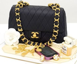 black, cake, and chanel image