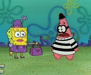 funny, spongebob, and cartoon image