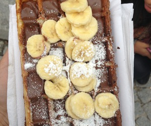 food, banana, and chocolate image