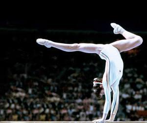 nadia comaneci, romania, and gimnastica image