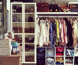 clothes, shoes, and closet image